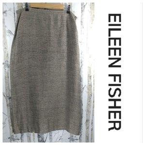 EILEEN FISHER linen blend skirt